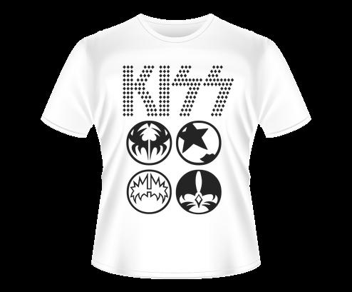 Camiseta de Banda - Rock - Kiss - MY Stamp Art